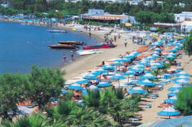 Gumbet beach in Bodrum